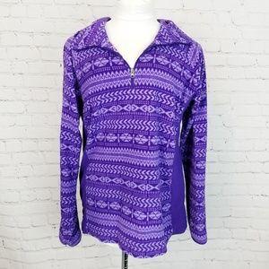 Columbia|1/4 Zip Aztec Print Fleece Pullover